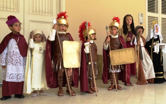 Los niños le dan el toque especial a la Semana Santa en Pamplona (Norte de Santander).