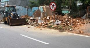 La demolición se suma a la efectuada a mediados de mayo, por la Seccional de Investigación Criminal (Sijín) en la avenida 23 con calle 23 del barrio Nuevo Milenio.
