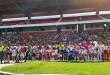 La actividad deportiva se desarrolló en el estadio General Santander y sirvió para interactuar con la comunidad educativa.