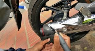 El sistema 'Motor Toll' se aplicó en  motor, barras, tubo de escape y rines.