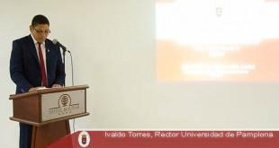 """""""Como Universidad podemos apoyar y ayudar mucho más a las alcaldías para gestión dentro de la región"""". Foto: PRENSA UNIPAMPLONA"""
