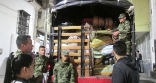 Los habitantes de Pamplona aportaron tres toneladas de alimentos no perecederos.