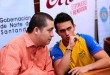 Los consejos secretos de Jesús Romero no están de más, porque la segunda temporada  para Jossimar Calvo será entre agosto y septiembre, en otras copas del mundo. /  Foto: PRENSA GOBERNACIÓN
