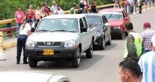 La actividad permitió la salida de 317 vehículos y 20 motocicletas, y el ingreso de 36 motocicletas y 54 vehículos.  / Foto: PRENSA GOBERNACIÓN