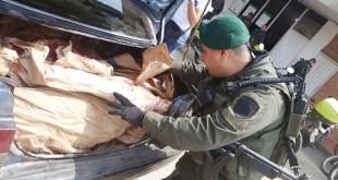 Siguen cayendo toneladas de carne de contrabando. / Foto: ARCHIVO