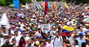 Manifestantes que participaron en una protesta contra el presidente Nicolás Maduro. /  FOTO: Ronaldo Schemidt/Agence France-Presse -- Getty Images