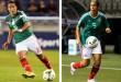 A la izquierda, Mayor durante un partido de la selección mexicana en 2014. A la derecha, Sierra en un partido de la CONCACAF en 2012. /  Foto / Michael B. Thomas/Getty Images, Jeff Vinnick/Getty Images